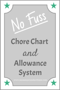 no fuss chore chart and allowance system