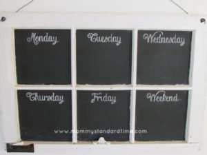 dress up chalkboard menu board
