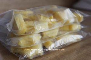 bags of frozen pineapple