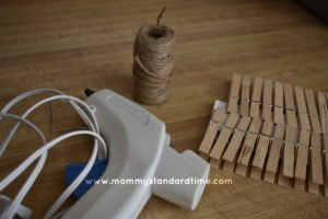 Supplies for wooden snowflake ornaments