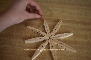dry fit of wooden snowflake pieces