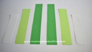paper strips for shamrocks