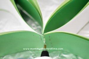 Glue Shamrock Leaves Together