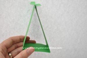Folding Stem for Paper Shamrock