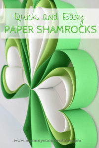 quick and easy paper shamrock craft
