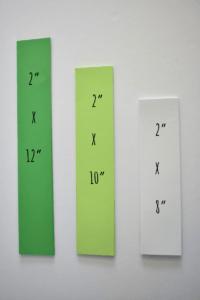 Shamrock Paper Strip Measurements