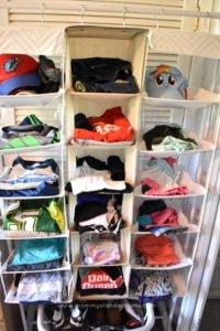 child clothing organization using clothing rack