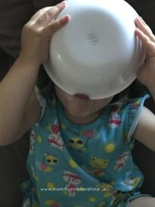 baby licking ice cream bowl clean