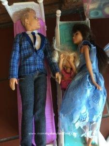 cosleeping barbie ken and baby