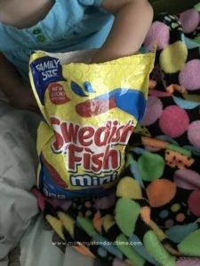 eating swedish fish during movie marathon