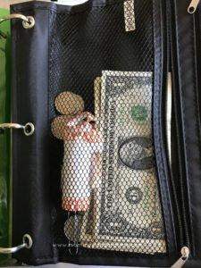 allowance cash in zipper pouch