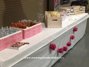 cancerpalooza food table