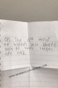 Filter-Free Friday - Coded Message - Mommy Standard Time Blog