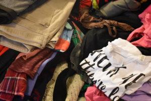 Clothes Pile Before KonMari Method - Mommy Standard Time Blog