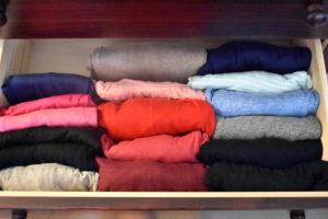 Dresser Drawer After KonMari Method - Mommy Standard Time Blog