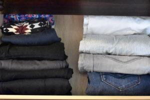 Pants Folded in Drawer After KonMari Method - Mommy Standard Time Blog