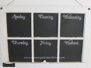dress up chalkboard menu board