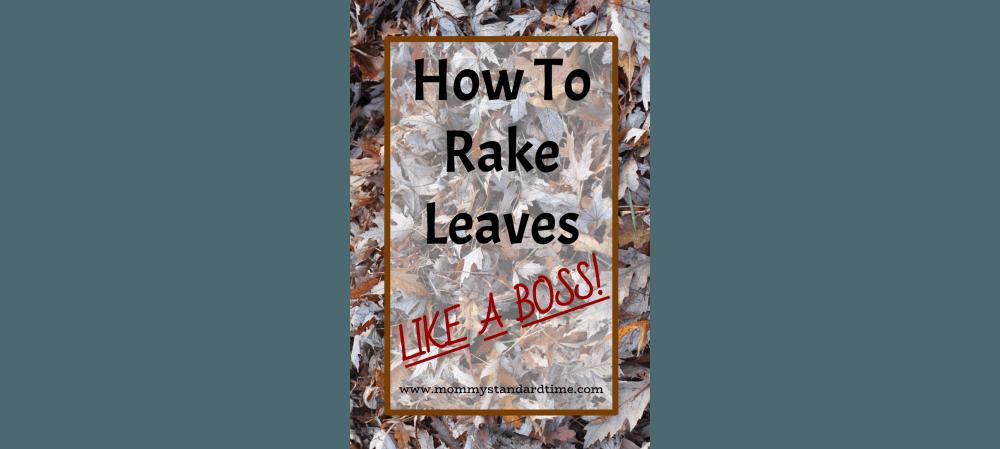 how to rake leaves like a boxx