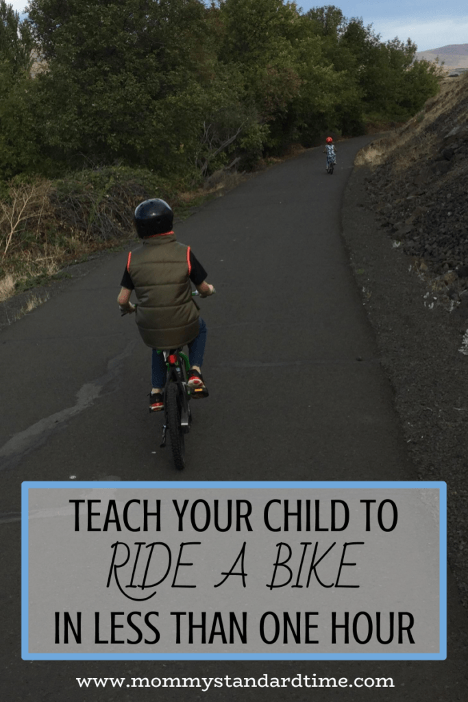 teach your child to ride a bike in less than one hour