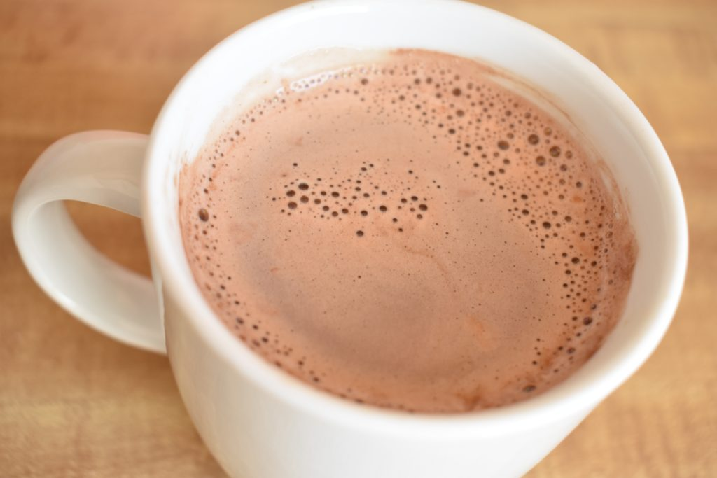 hot cocoa using diy mix