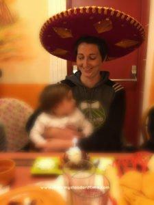 birthday celebration with sombrero