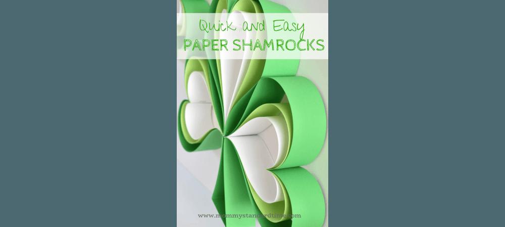 quick and easy paper shamrocks slider