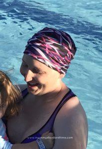 stephanie in swimming pool