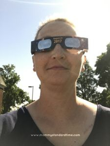 wearing eclipse glasses after breast cancer radiation