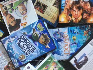 DVDs on floor