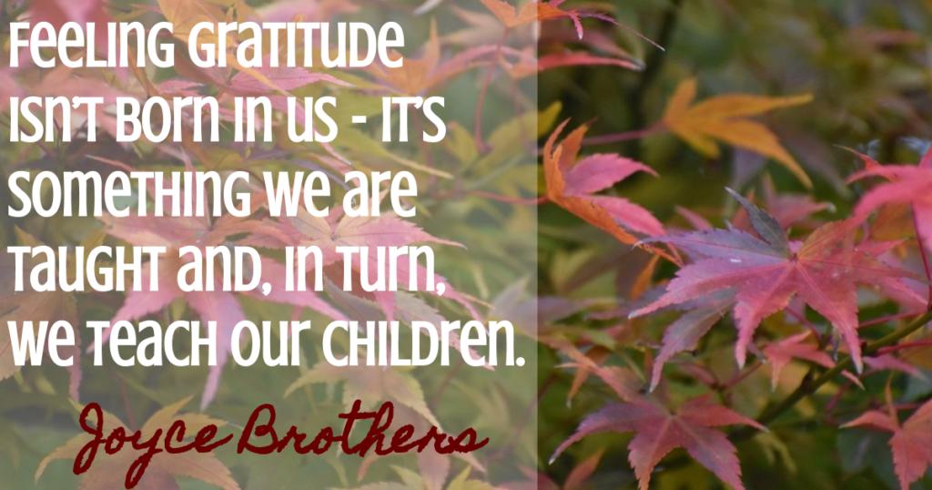 joyce brothers gratitude quote