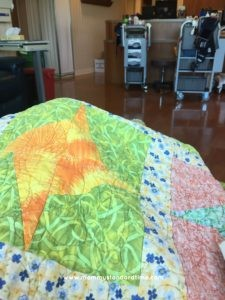 warm quilt at chemo