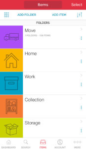 sortly app folder list