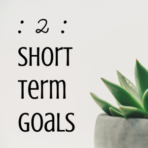 Perfectionist Procrastination Step Two - Short Term Goals