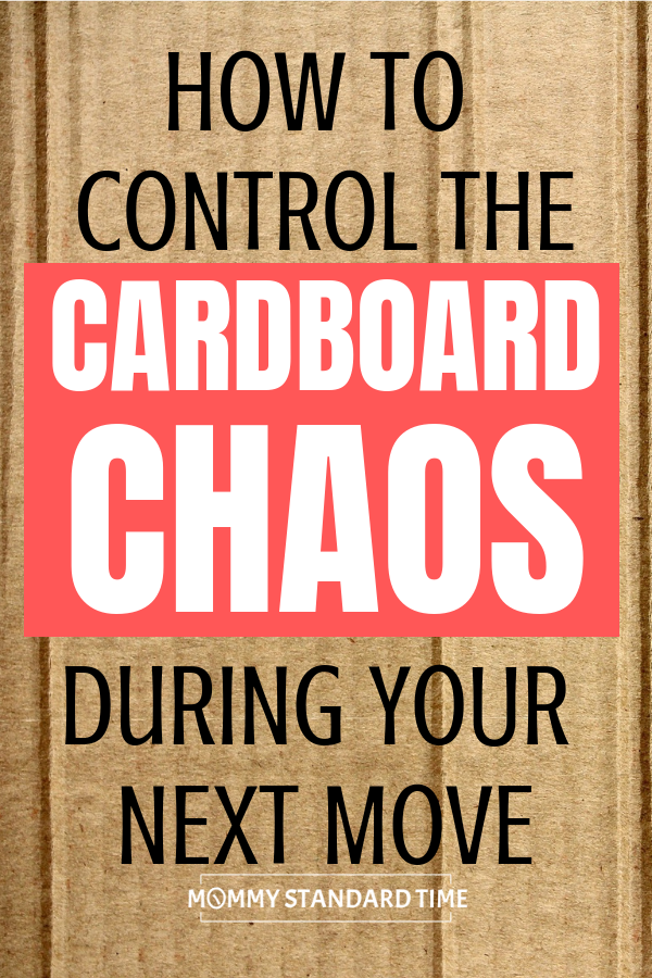 How to control the cardboard chaos during your next move.