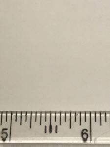 ruler with markings