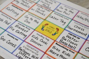 Bucket List Bingo Sheet