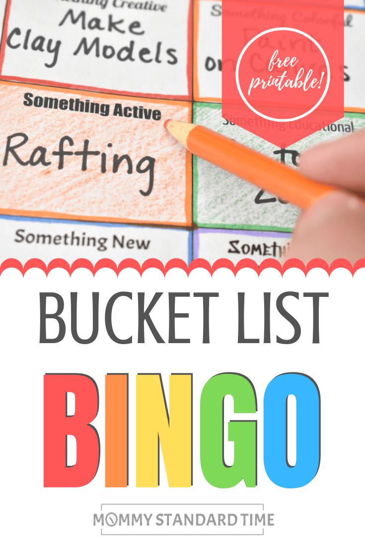 Bucket List Bingo - Mommy Standard Time