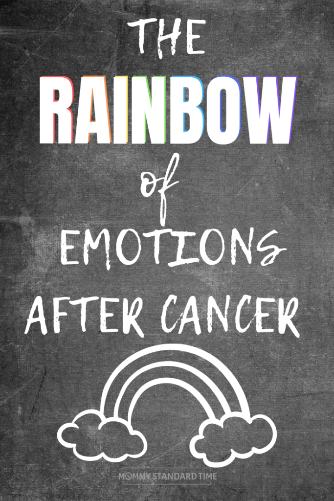 The rainbow of emotions after cancer